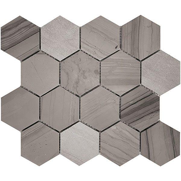 Athens Grey Large Hexagon