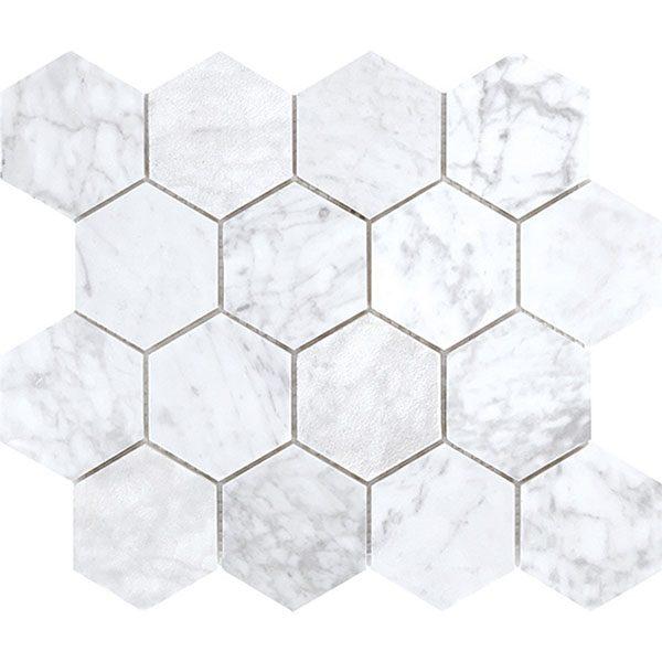 Carrara Large Hexagon
