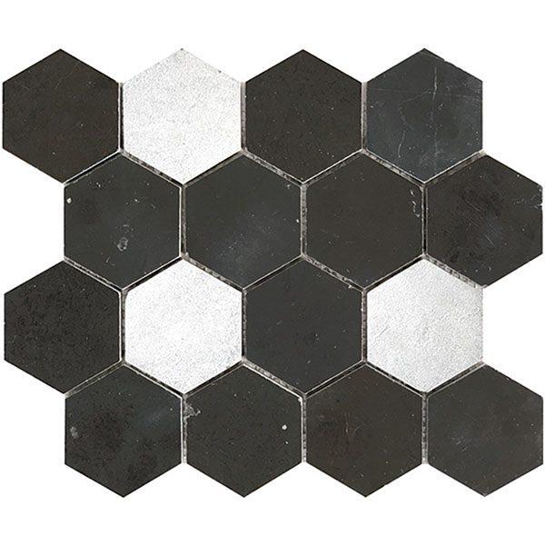 Pietra Dark Large Hexagon