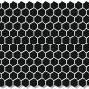 Hexagon Black 23x23